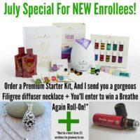 July Essential Oil Bonus Specials!