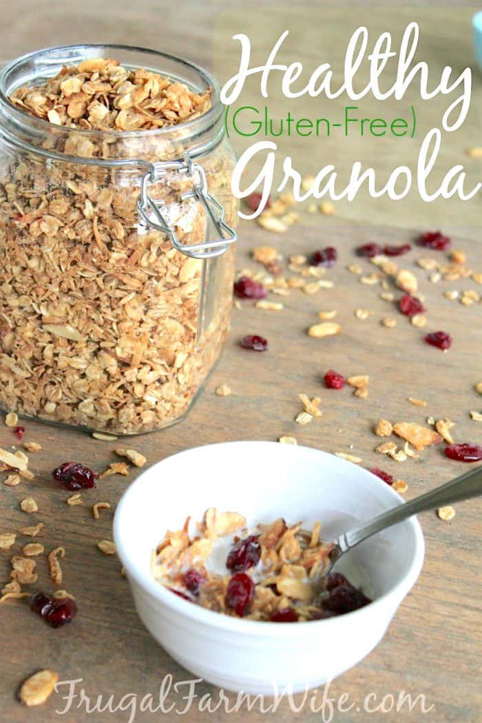 Healthy gluten-free granola recipe