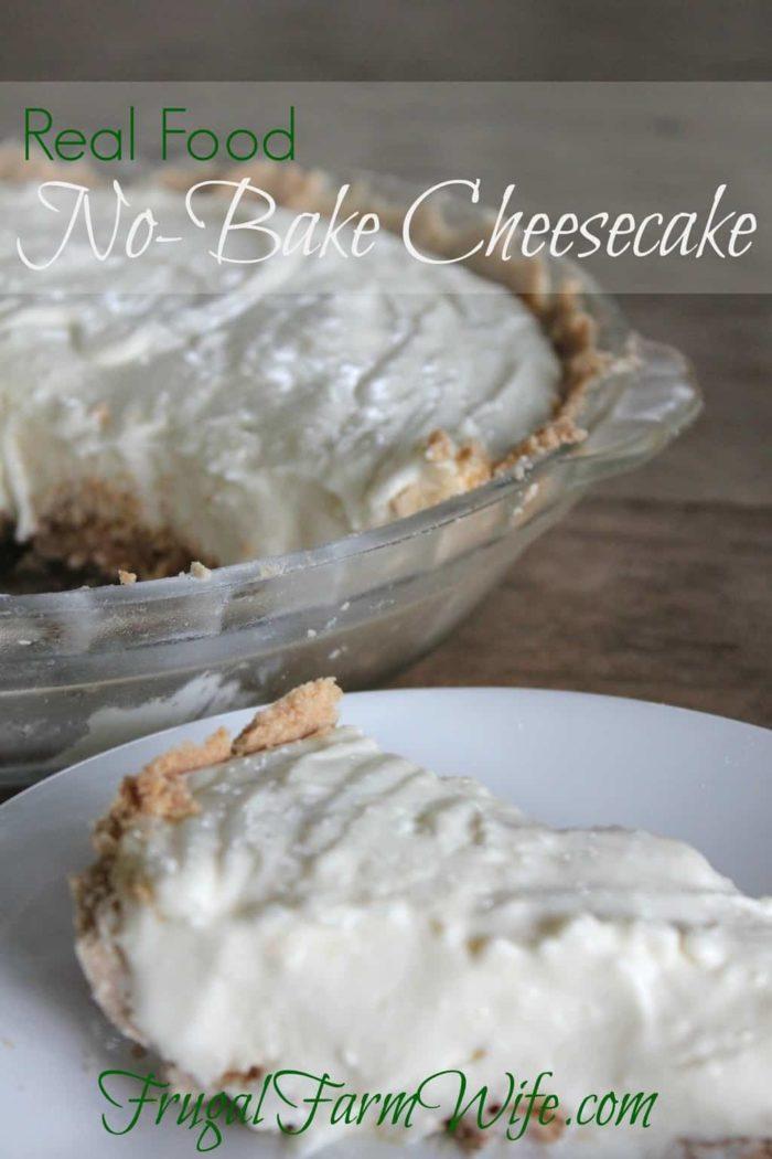 This no-bake cheesecake recipe is phenomenal! Easy to make - no Cool Whip. Yum!