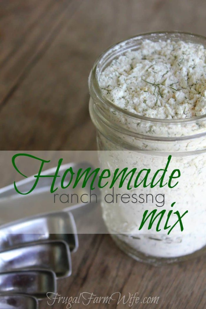 Homemade Ranch Dressing Mix Recipes