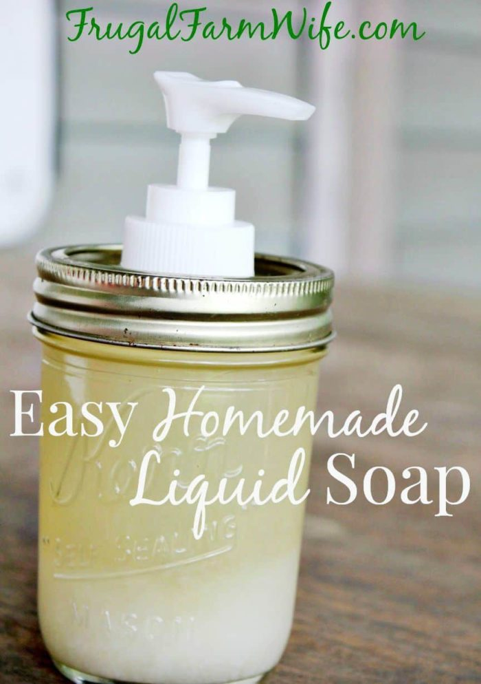 Easy Homemade Liquid Soap Recipe