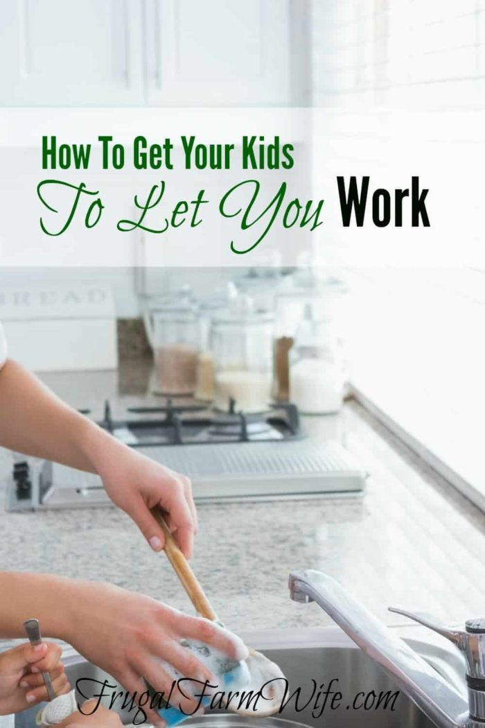 How to get your kids to let you get stuff done.