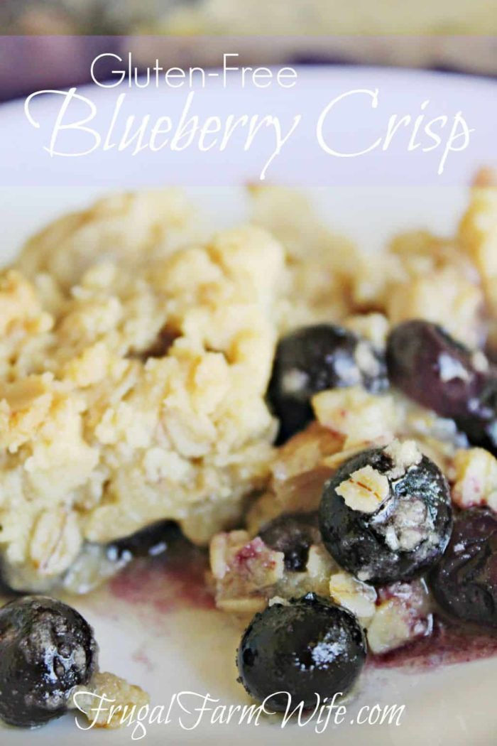 Gluten-Free Blueberry crisp Recipe