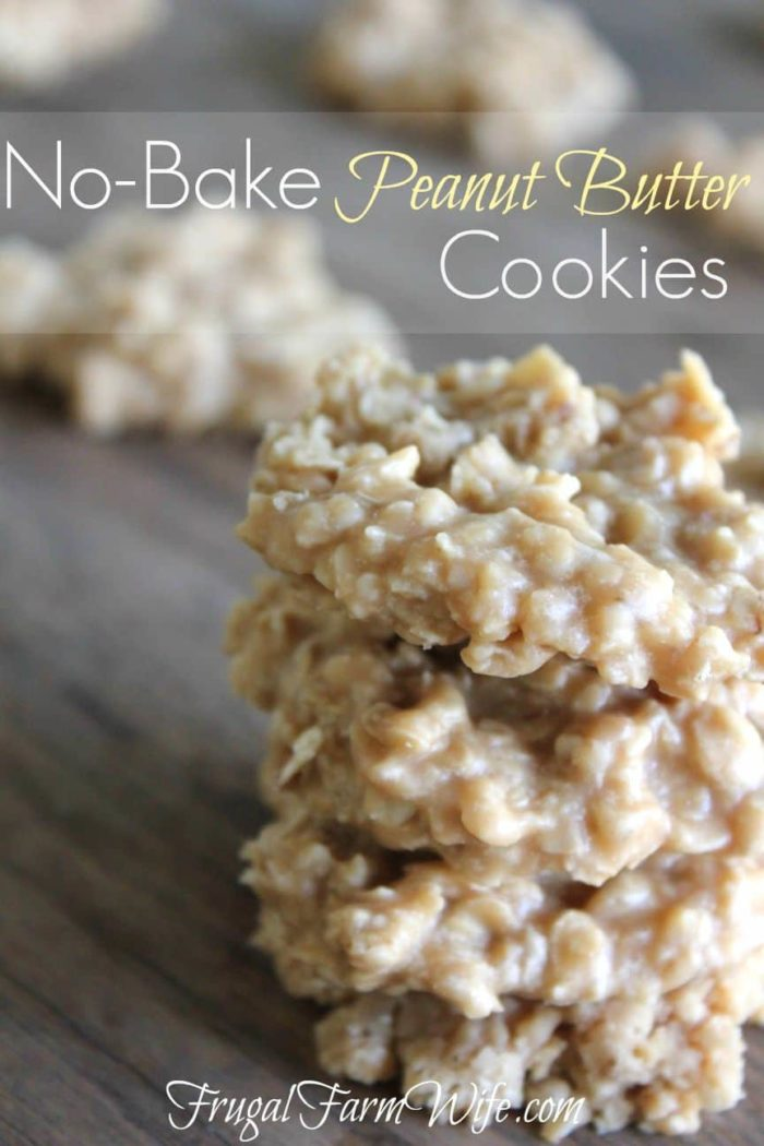 These peanut butter no-bake cookies are so delicious! Just like traditional no-bakes, but without the chocolate, and with more Peanut Butter!