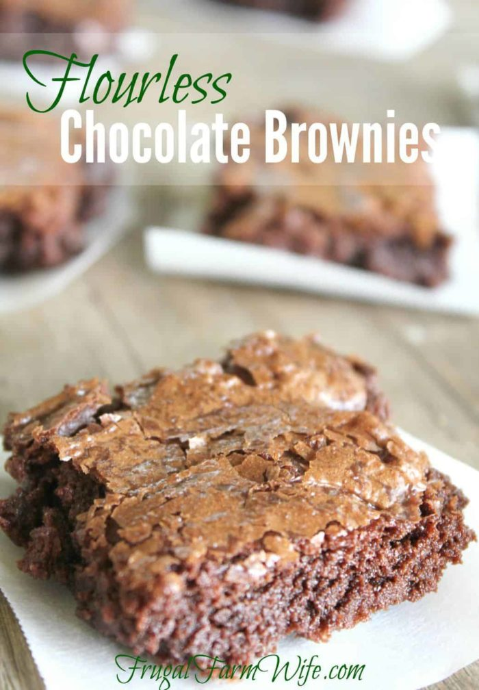 These flourless chocolate brownies are the BOMB! Dare I say they're even better than a boxed mix? Oh yeah! And of course, flourless = gluten-free.