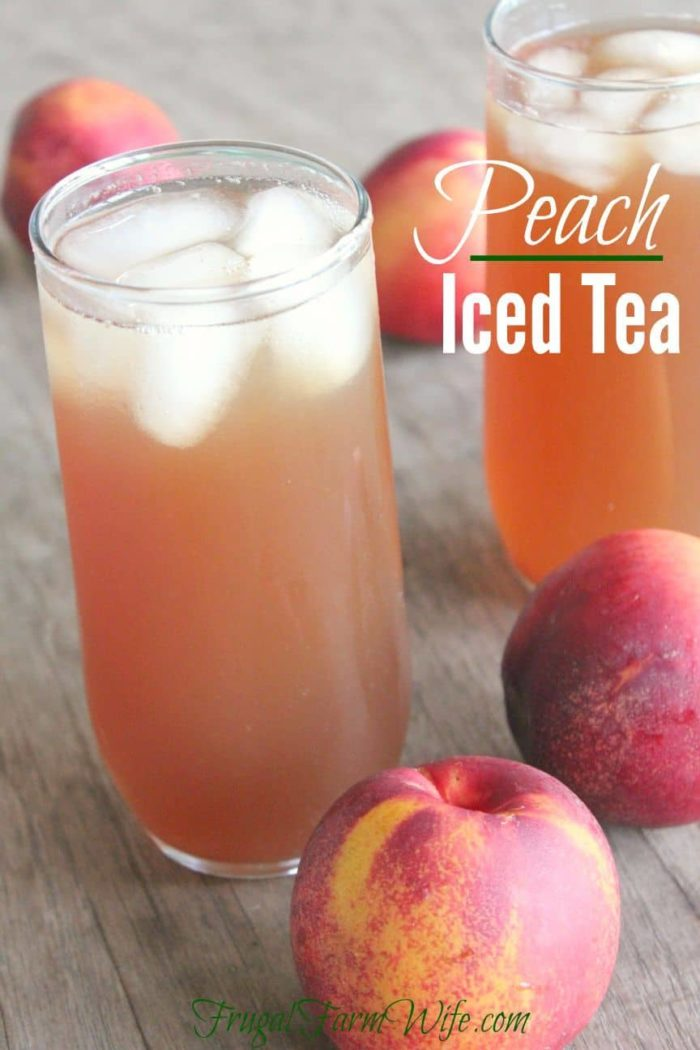 Peach iced tea recipe with real peaches the frugal for Easy fruit tea recipe