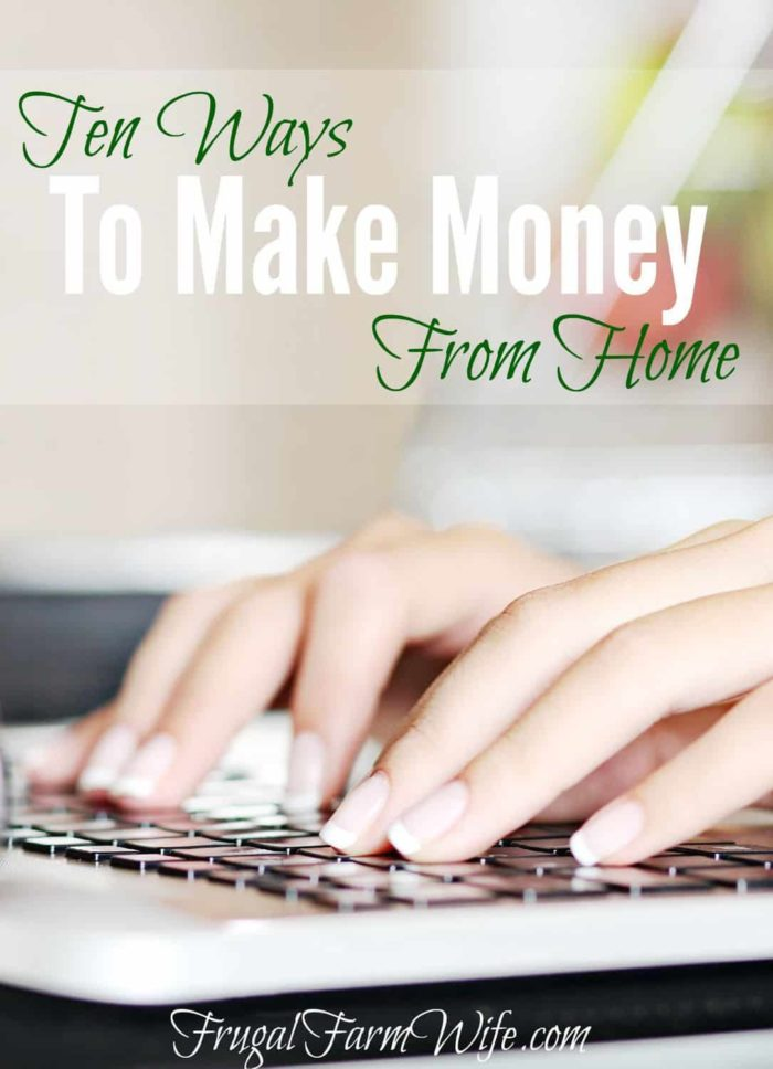 Ten ways to make money at home with your computer.