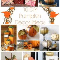 10 DIY Pumpkin Décor Ideas