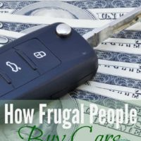 How Frugal People Buy Cars