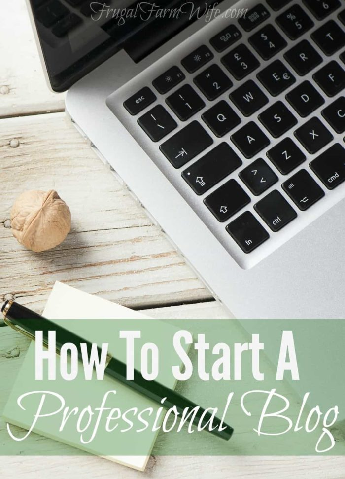 A step-by-step guide for how to start a professional blog.