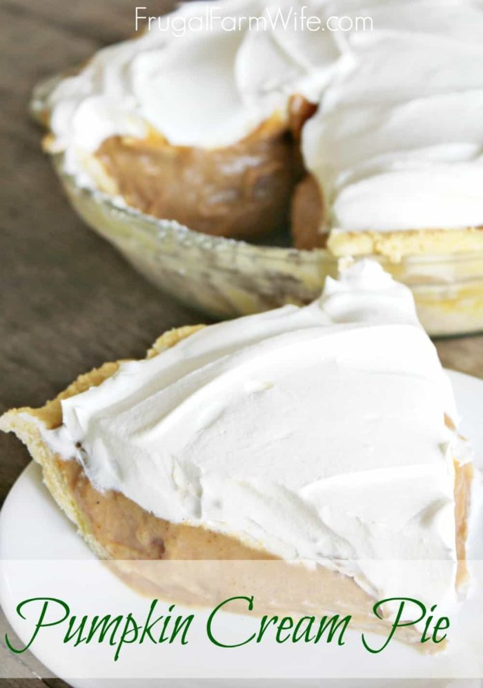Easy Pumpkin Cream Pie. This is amazing! And I'm especially excited to have a version of pumpkin pie that's egg-free!