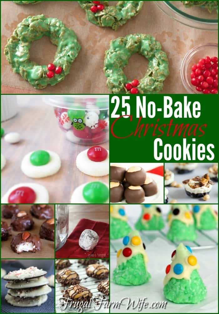 These 25 no-bake Christmas cookie recipes will lighten the load on your oven, and tickle the taste buds of everyone at all your Christmas parties this year!