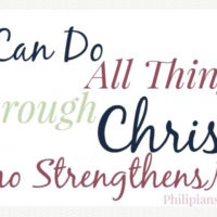 Mom's Weekly Memory Verse Philippians 4:13