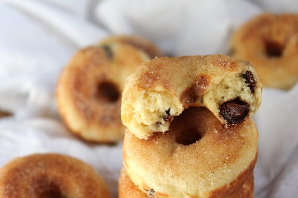 gluten-free banana chocolate chip doughnuts