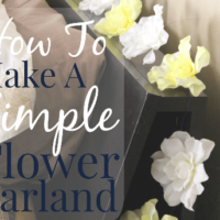 How To Make An Easy Flower Garland