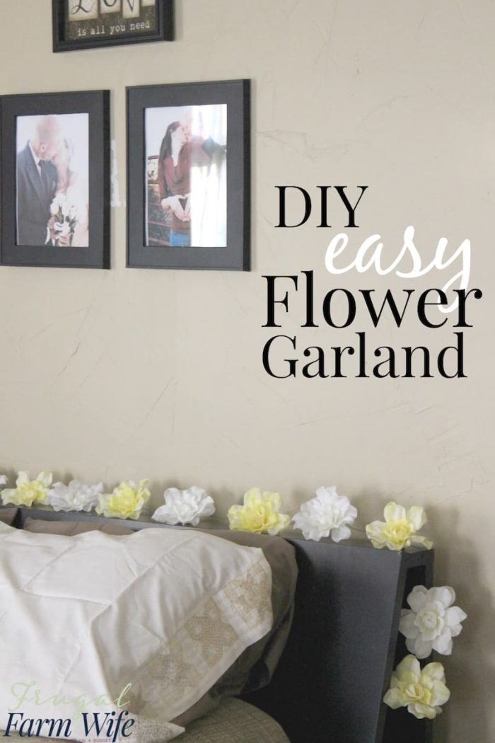 diy easy flower garland