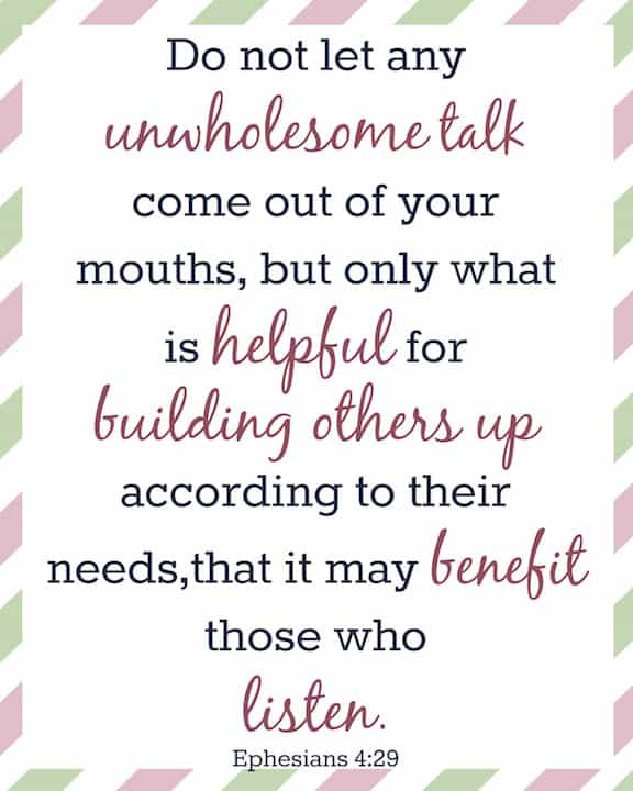 Ephesians 4:29 - Bible Verses For Moms