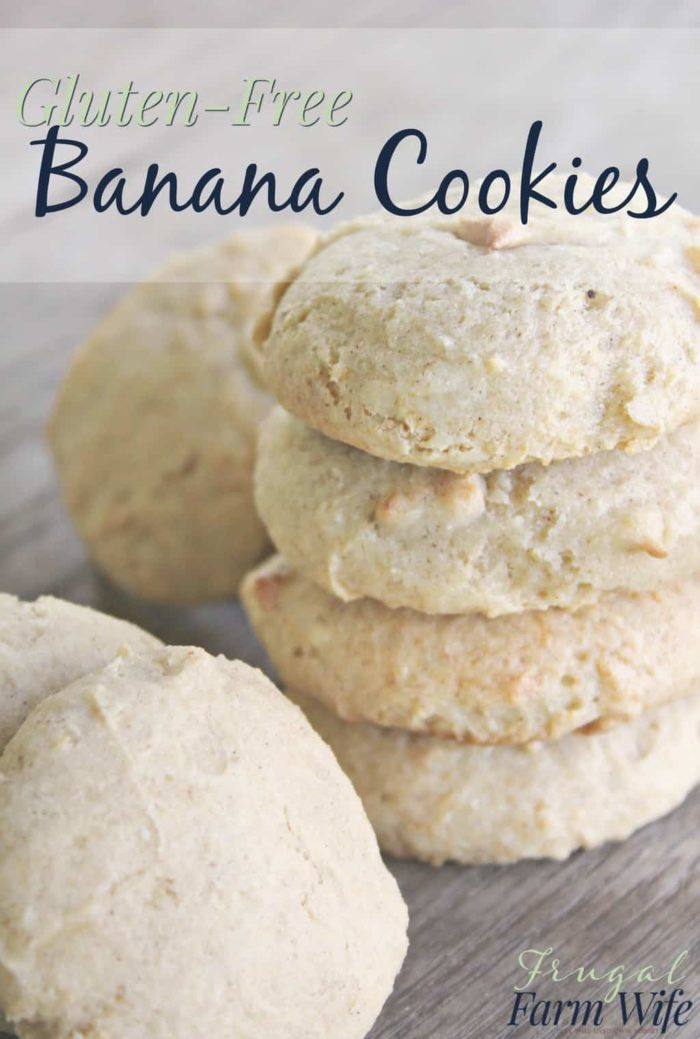 These gluten-free banana cookies are delicious and easy. My kids LOVE them!