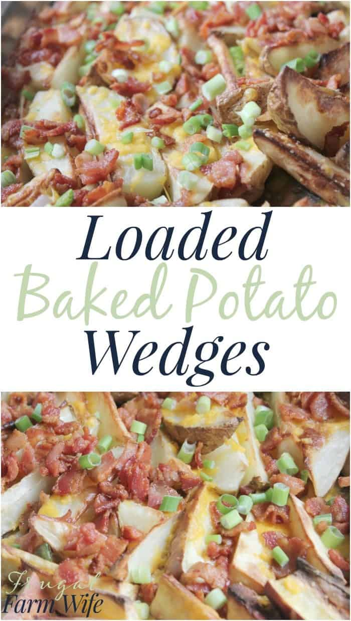 These loaded baked potato wedges are so easy and DELICIOUS!