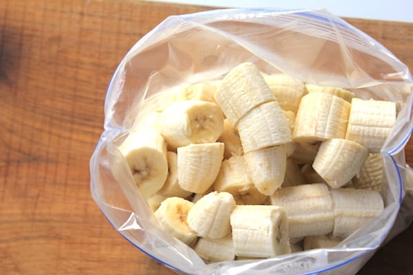 bag of frozen bananas