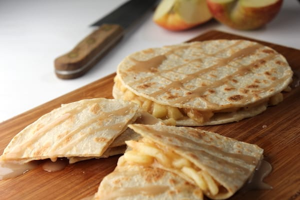 Corn Tortilla Ideas - apple pie quesadillas
