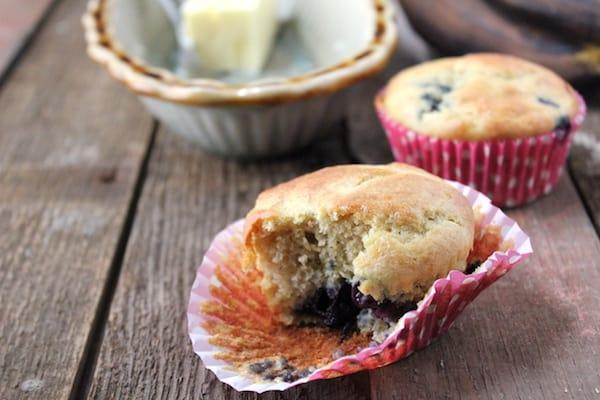 blueberry banana gluten-free muffins