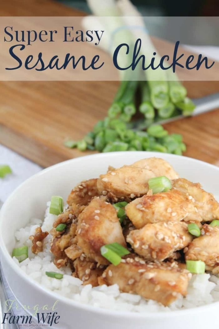 This super easy sesame chicken recipe is so good! Nobody will no it took you less than ten minutes to make it!