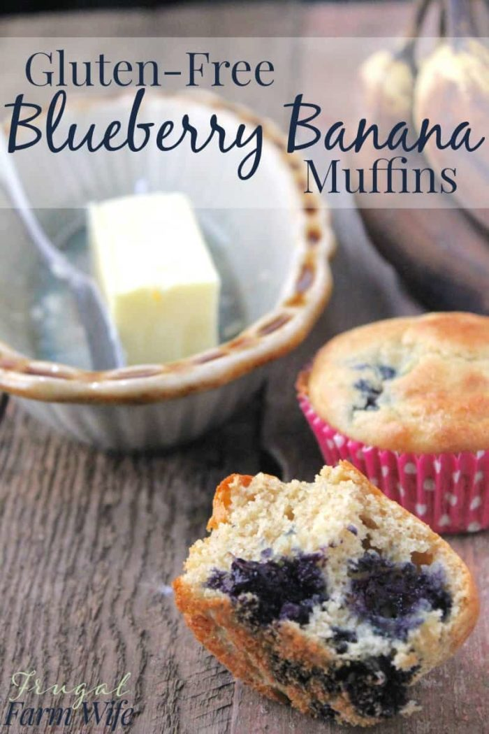 These gluten-free blueberry banana muffins are easy to make, and perfect for breakfast, brunch, or dessert! A perfect gluten-free recipe!