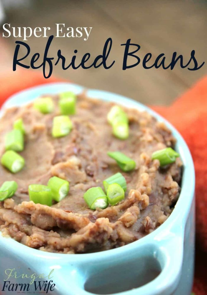 This easy refried beans recipe a delicious, and whips up in just two minutes!