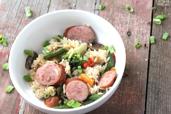 We are loving this easy asian sausage and veggie casserole!