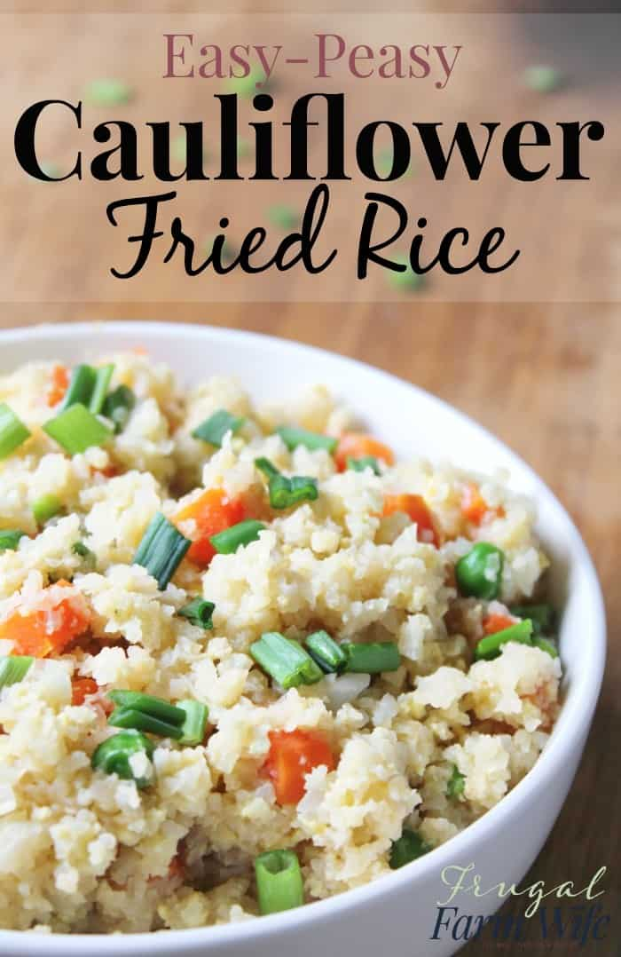 This cauliflower fried rice recipe is so easy! I love that it's not only low carb, but a super tasty way to get the family to eat their veggies!