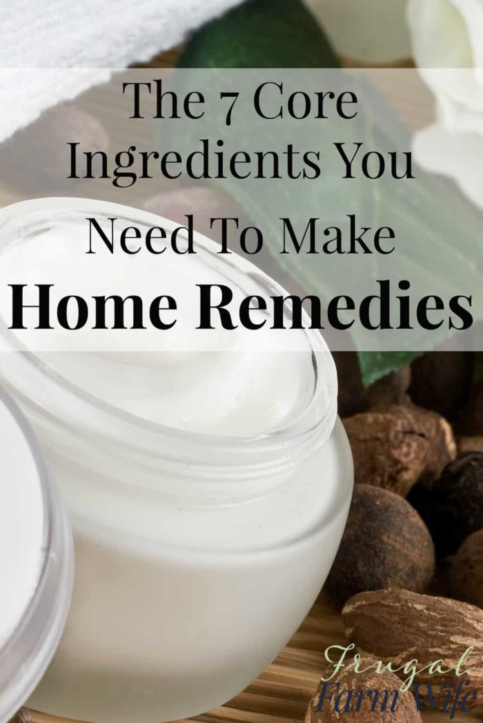It really doesn't take a lot to make a huge variety  of home remedies. Check out this short list!