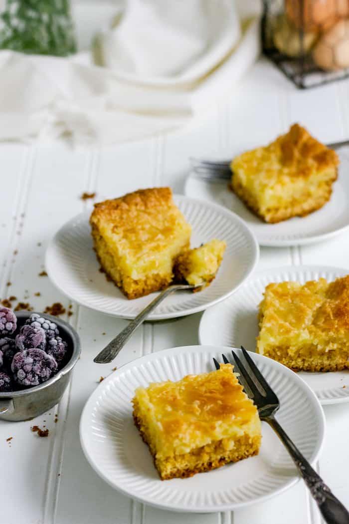 gooey, gluten-free french butter cake recipe - so delicious!