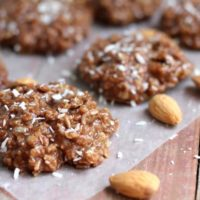 Healthy No-Bake Almond-Coconut Cookies