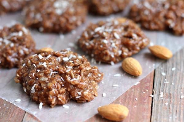 healthy coconut almond no-bake cookies