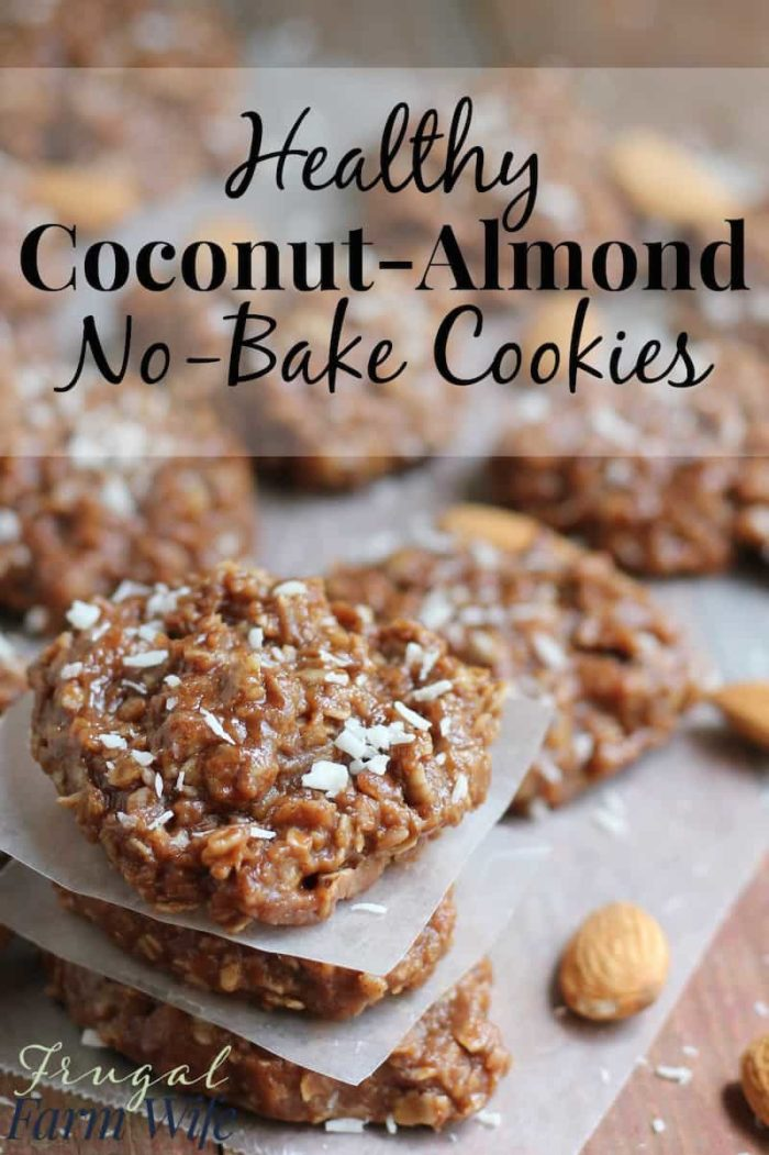 These Healthy No-Bake Almond Coconut Cookies are amazing! They remind me of my favorite candy bar. Yum!