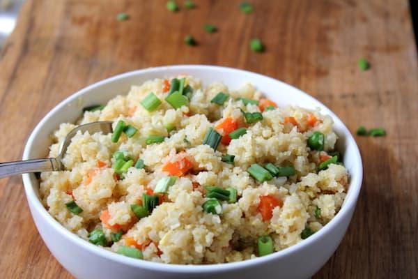 Super easy cauliflower fried rice
