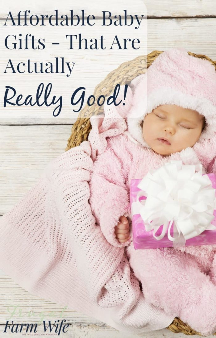 Affordable baby gifts that are actually REALLY good! This is a fantastic list! Check out all these great ideas!