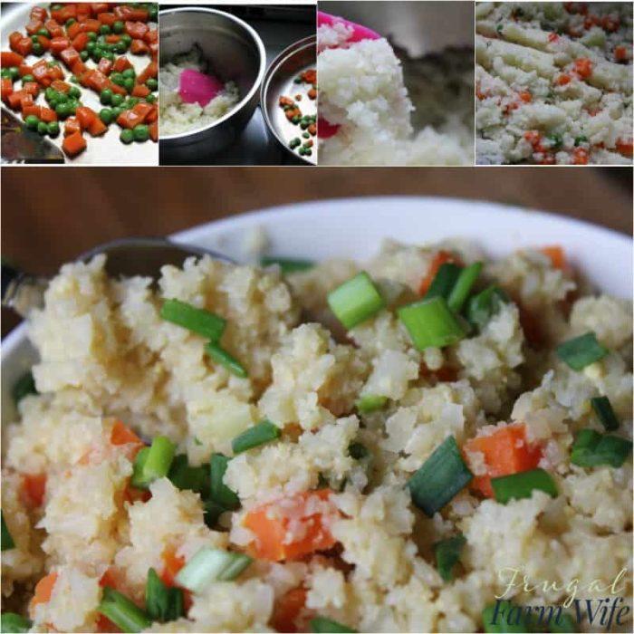 I had no idea how easy it was to make cauliflower fried rice!