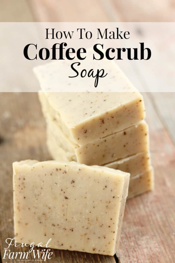 This coffee scrub soap recipe is so easy to make! and the soap itself is so invigorating, and makes my skin feel so soft!