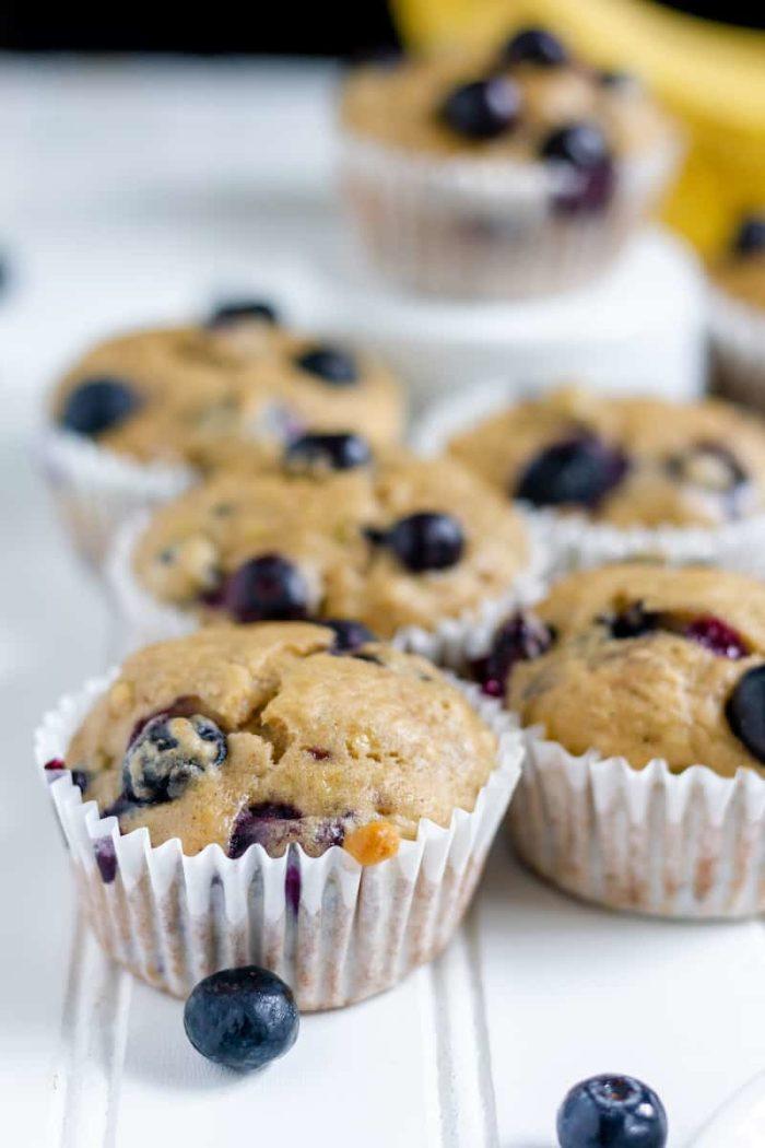 easy blueberry banana muffins - so soft!