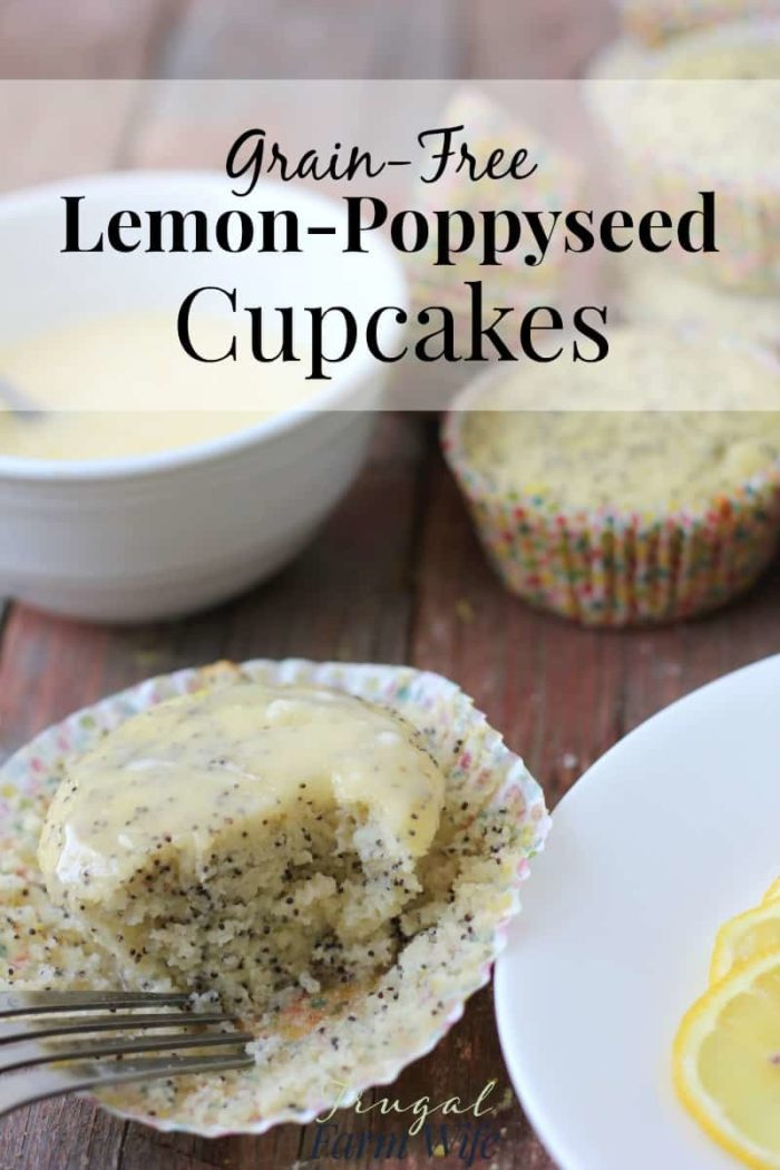 These Grain-Free Lemon Poppy Seed Cupcakes are simply amazing! You'll never know they were made with coconut flour.