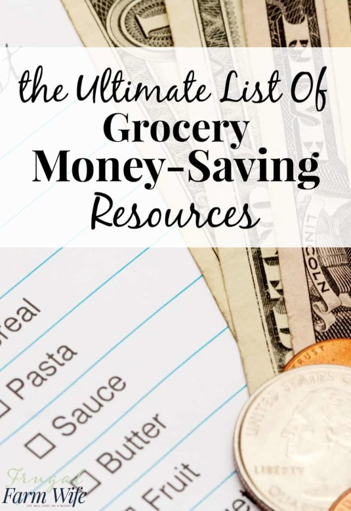This is a huge list of grocery money-saving tips. You're guaranteed to find some that work for you here!