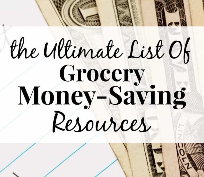 Ultimate List Of Grocery Money-Saving Tips