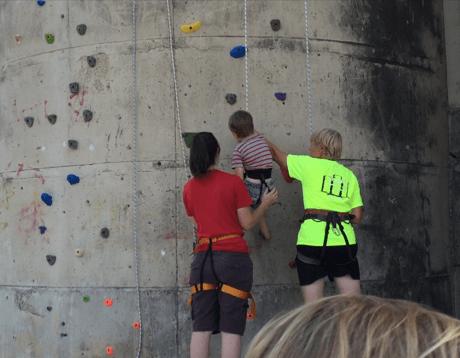 Toddler Rock Climbing