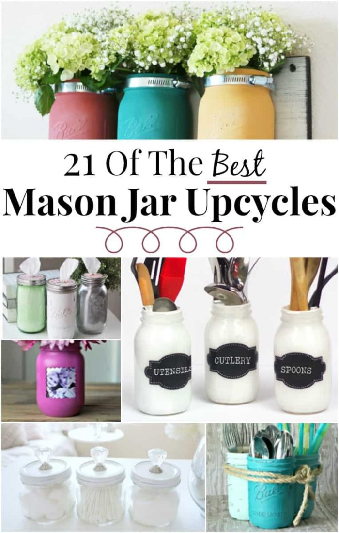 21 of the BEST mason jar crafts ever! So much inspiration here - you've got to click over and check it out!