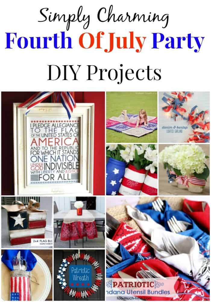 These charming fourth of July DIY ideas are SO pretty! I wish it could be Independence Day every day!