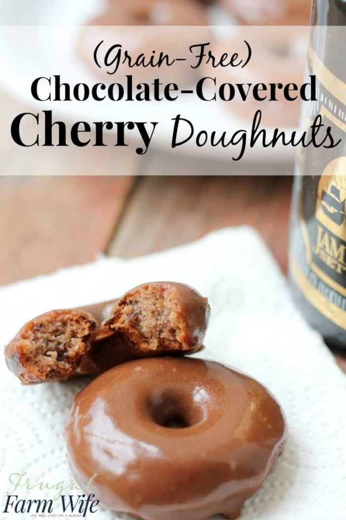 These grain-free chocolate-covered cherry doughnuts are simply amazing! Sweet-tart cherry flavor mixed with rich chocolate icing. It's a gluten-free delight!