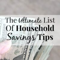 The Ultimate List Of Household Money-Saving Tips