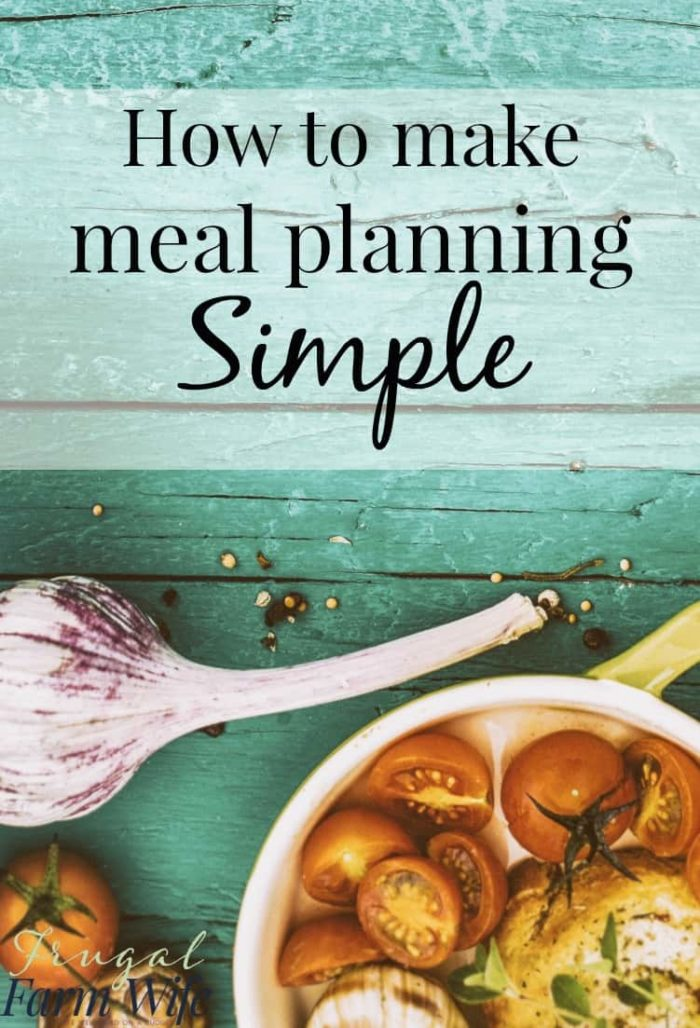 Our Simple Meal Planning System